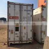 40' used Reefer Container with Carrier refrigerator for sale