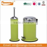Stainless Steel Waste Bin and Toilet Brush Set
