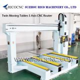 Twin Moving Tables 5 Axis CNC Router Machining Centers