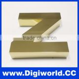 Outdoor plating titanium letter custom metal letter