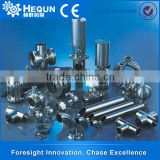 High Quality Stainless Steel Machine Parts Butterfly Valve , Tank Sight Glass Lamp , Fixed Cleaning Ball