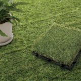 wholesale plastic garden tile interlocking artificial grass floor tiles , grass floor mats