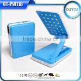 Foldable design portable 10400mah power bank with table lamp