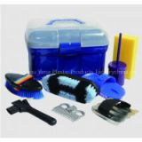 Plastic horse grooming kit collection/horse products