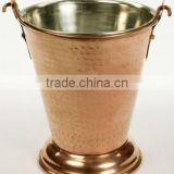 copper & siver finished wine ice bucket