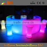 2016 new illuminated round bar table / led light bar furniture / lighting furniture