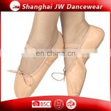 Microfiber ballet slipper leather full sole