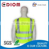 Wholesale 100% Polyester High Visibility Traffic Safety Vest With Reflective Tapes