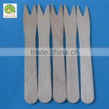 disposable birch wood fruit fork