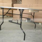 wooden folding tables and chairs party