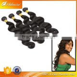 100 pct virgin Brazilian hair extension natural color silky human trio body wave with no chemical