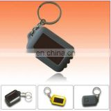 3led black color solar light keychain flashlight