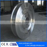 Metallurgical machinery forging spare parts, ladle Transfer Cars Wheel, slag pot wheel, iron or steel ladle car wheel