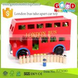 Good Quality Wooden London Bus- London Transport Routemaster Bus London Bus- Take Apart Car Toy