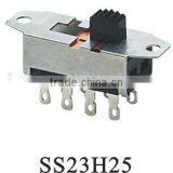 SS23H25 2P3T slide switch