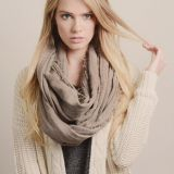 Soft Solid Color Cable Circle Infinity Loop Scarf Wholesale
