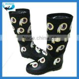 Kids fashion neoprene rubber boots high boots women
