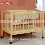 wholesale solid wood multifunction high quality bed baby cribs