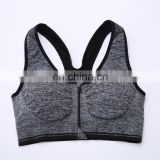 Custom the sport outdoors yoga front zipper underwear bra for women