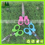 2016 5'' lovely colorful butterfly handle student scissors office scissors