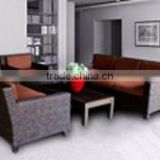 wicker furniture, plastic rattan sofa living room set