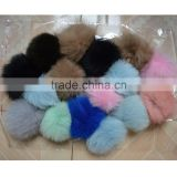 SJ747 12CM Dyed Fox Fur Pom Poms Bulk Wholesale