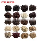 Ladies fashion Curly hair accessory Hair Bun Extension Hairpiece Scrunchie Chignon 20 colors                                                                                         Most Popular
