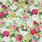 wholesale red rose Floral printed 100% cotton fabric for sewing,soft baby cotton fabric for bedding