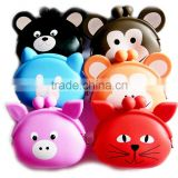 Eco friendly non toxic animal cartoon silicon coin sorter wallet, silicone smart wallet for kids