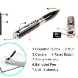 Wholesale High Quality Pen camera,Web camera,audio record, 1280*760/30fps camcorder pixels, video recording,photo taking