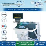 Micro-Processor Controlled Effective Puritan Bennett 7200 Series Ventilator with In-built Air/Oxygen Blender and Nebulizer