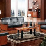 Vintage Office Sofa,Luxury Office Furniture,Black Leather Office Sofa(BF08-0226)