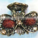 alloy hair claw clip with rhinestone for women or lady