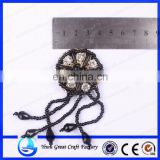 Supply the new fashion shoes wholesale flower processing, handmade beaded flower, manual nail bead