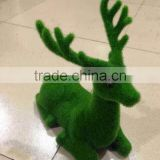 Various postures artificial moss animal topiary in high quailty