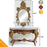 Moroccan Living Room Furniture Reproduction Console with Mirror