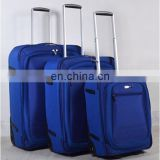 New Stock 3PCS Set Royal Blue 1680D Soft Luggage Suitcase Trolley