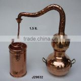Polished Copper Distillers made in pure copper for essential oils all size available