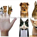 Hot sale cute PVC animal shape customized finger puppet toy