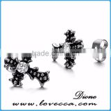 New ! Factory wholesale Surgical grade stainless steel cross earrings for men