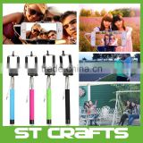 Bluetooth Remote Shutter Extendable Handheld Selfie Stick Monopod + Phone Holder