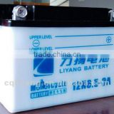 12V motorcycle batteries/dry-charged battery/not maintenance-free/made in china