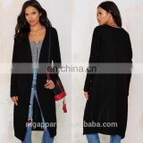 2015 The Latest New Heated long Cardigan for woman Black Sweater