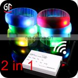 Concert Music Festival Supplies China 2 In 1 Function RFID Remote Control Led Wristband