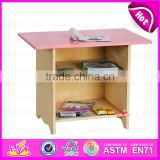 2015 New design cheap home work table study table,Cheap wooden toy table for children,High quality wooden study table W08G023