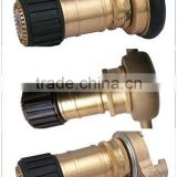 Marine Wholesale 3 Position Brass Fire Hose Nozzle