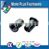 Made In Taiwan Furniture Connector Nut Hex Socket Recess Connector Nut With Knurl Truss Head Joint Connector Nut
