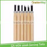 Professional DIY Woodworking Hand Tools and Wood Carving Knife for 6 Kinds Shapes