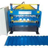 Best sale galvanized roof metal tile 2 layer double deck profile roll forming machine