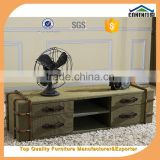 2016 Cohen furniture new design eco-friendly army green solid wooden tv table/canvas tv stand/fabric livingroom furniture